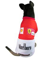 Red Black Large Dogs Clothes Racing Uniform Big Dog Jacket Coat Shepherd Golden Retriever Husky Winter Clothing 2XL 3XL 4XL 5XL