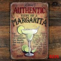 Authentic Margarita Tin Sign ART Painting Metal Craft Cafe Decoration E-119 Mix order 20*30 CM