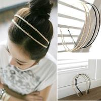 2015 New Vogue Metal Crystal Headband Head Piece Hair Band Jewelry For Women Girls
