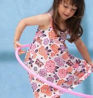Peacemaker Girl dress cotton flower print girl dress baby dress in stock kids clothes children dress summer dress hot