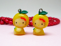 10 pieces Hello Kitty in lemon Pendant Charm Lovely Fashion Gifts DIY Accessories ALK667 Wholesale