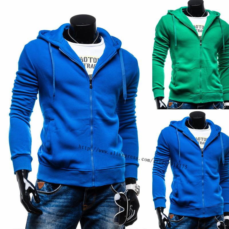 Hooides Men 2015 New Spring Fashion Sport Suit Men Zipper Design Casual Jacket Coat Men Blue Color Drop Shopping(China (Mainland))