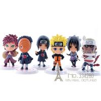 6 pcs/set New Naruto Cute Anime Action Figure Set Figurine PVC Toys KY-54
