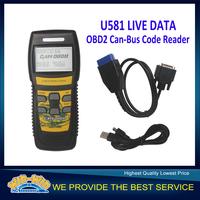 Memoscan U581 LIVE DATA OBD2 EOBD Scanner U581 OBDII / EOBDII Can-Bus Code Reader Free Shipping
