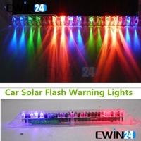 Car Solar Flash Multicolor Lights Led Prevent Warning Knight Rider Light Lamp Free shipping 5pcs/lot