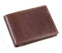 Free Shipping!New Vintage High Quality Short Genuine Leather Card & ID Holders Fashion Commercial Bank Card Holders C3352
