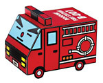 [] cartoon car - the raging fire truck paper model(China (Mainland))