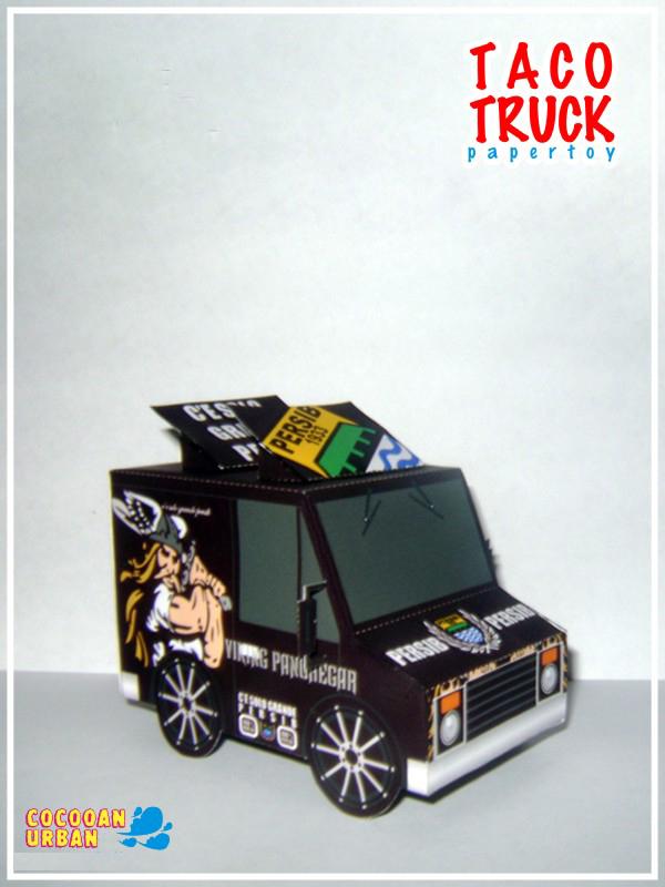 [2015 new fun toys] Q version of cartoon truck 01 paper model(China (Mainland))