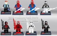 super heros 8pcs/set spider  man Building Bricks Blocks Sets minifigure Compatible With Lego
