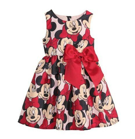 2015 new children's clothing Minnie Mouse children dot dress tutu princess dress kids loose-fitting baby girl dress(China (Mainland))