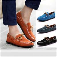 New Brand 2015 Men's Flats Shoes Shose Mocassin Sapatos Casual Sapato Mocassim Masculino Shoe Pu Nubuck Leather Loafers