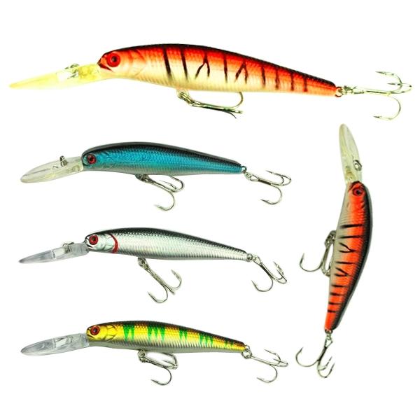 Best price Hot 4pcs/Lot Deep Diving Baits Lifelike Plastic Minnow Fish Lure Baits(China (Mainland))