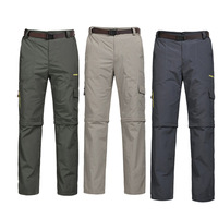 Detachable Pants As Shorts Men Camping Hiking Trousers Plus Size L-5XL Breathable Sunscreen Man Quick Dry Sweat Pants