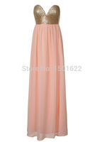 Detonation model of the new 2014 sequins wrapped chest harness Bohemian dress dress 2 4 6 8 10 12 14