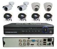 CWH-DW5104HD/6003MC/4007MC surveillance camera 4CH 960H DVR with 2PCS indoor cctv cameras and 2pcs  outdoor security camera sets