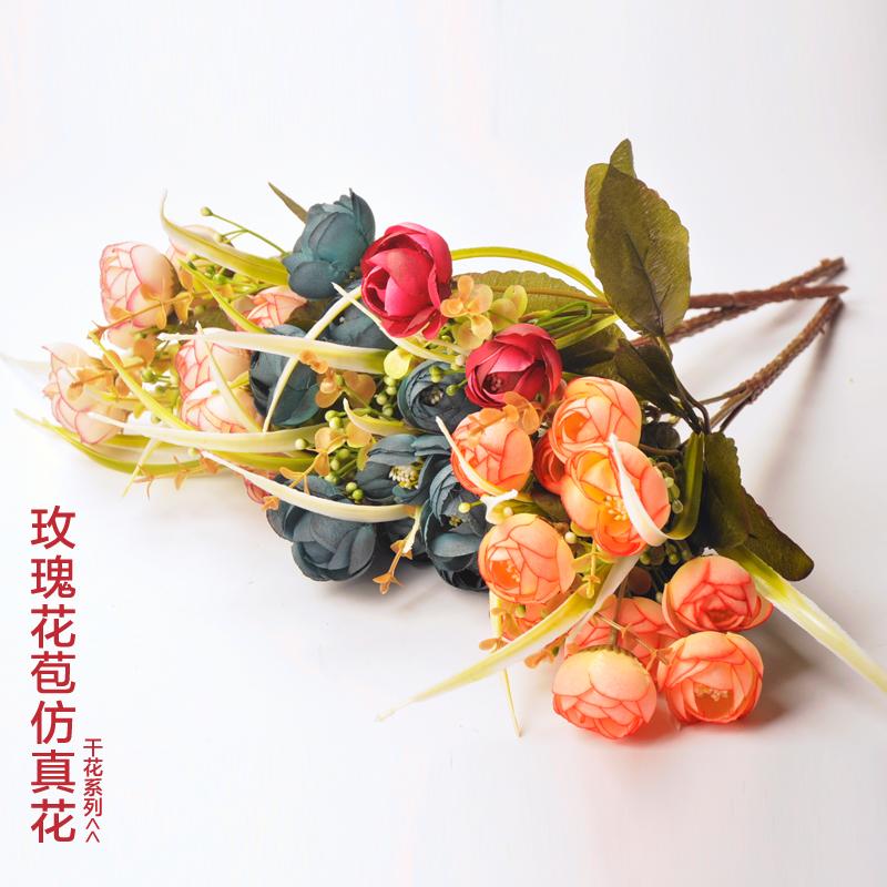 3шт красивые camelias bountyless искусственный цветок