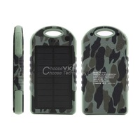 12000mAh Portable Waterproof Solar Charger Dual USB External Battery Power Bank YKS