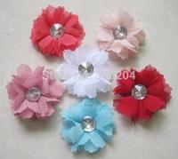 Chiffon Flower Soft Fabric Silk Rhinestone Ballerina Twirl Flowers