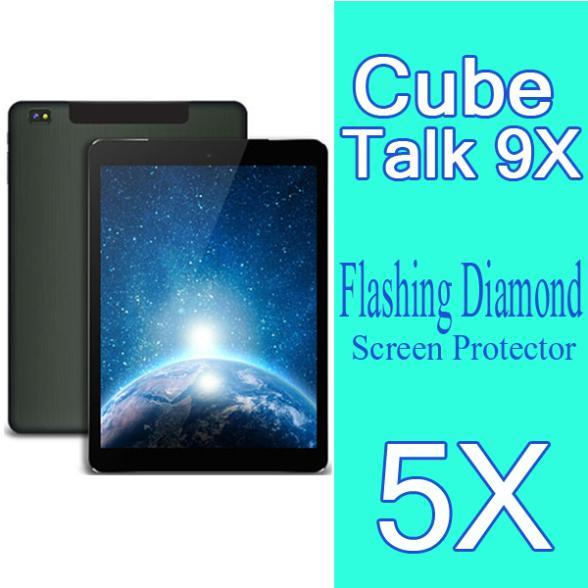 "Diamond Flashing Protective Film Cube Talk 9X U65GT Tablet PC Screen Protector 9.7"" Cube U65GT Talk 9X Diamond Screen Film,5pcs(China (Mainland))"