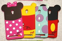 3D Cartoon Shadow Back cover case For ASUS ZenFone 5 case Minnie Mickey Donald Duck Mobile Phone Cover Shockproof Skin