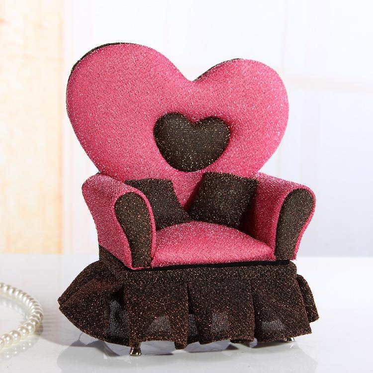 Free shipping European jewelry box sofa creative furniture Cosmetic Gift Box Jewelry Packaging BY1008(China (Mainland))