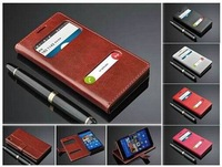 Fashion 2-View Windows PU Leather Mobile Phone Case for Sony Xperia Z3 5.2inch,10pcs/lot