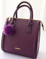 2015 New female bags 4 colors fashion bags ladies bags hair ball baodan shoulder handbags foreign fashion handbags wholesale