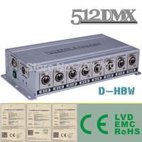 8 Way DMX Splitter;AC110V/AC220V input; 2 DMX inputs to 8 DMX outputs;DMX amplifier,dmx distributor