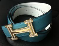 H agings crystal all-match fashion genuine leather Men men's belt strap