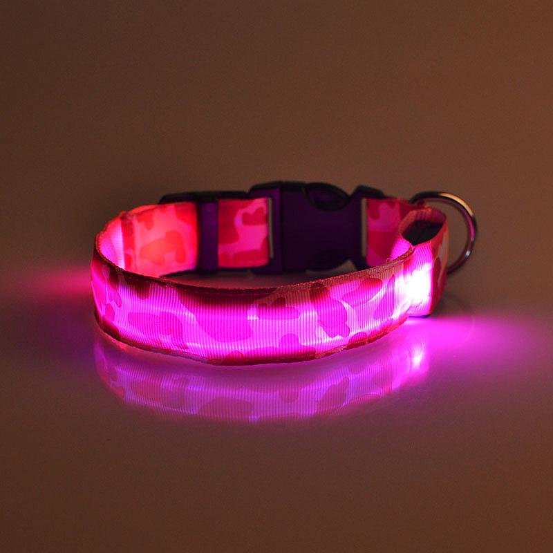 light emitting collar camo led pet dog collar dog dog with. Black Bedroom Furniture Sets. Home Design Ideas