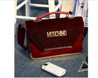 2015 spring /winter fashion handbags women Shoulder Messenger Handbag Korean alphabet horsehair