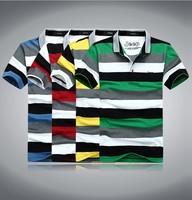 plus size retail Fashion stripe T-Shirts Men 2015 Summer Shirts For Mens Casual Men's Sport t shirt