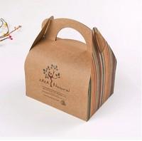 Brown Kraft Hand Cake Box,DIY Gift Box,Cookie Boxes,Biscuit Boxes