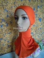 m2025 cotton classic solid color ninja muslim islamic scarf hijab inner cap islamic underscarf inner hat