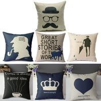 Vintage European Style Cotton Linen Pillow Case Cushion Cover Home Decoration Free Shipping  K5BO