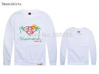moletom diamond hip hop sweatshirts print men cotton casual pullover diamond co sweatshirt diamond supply co tracksuits white