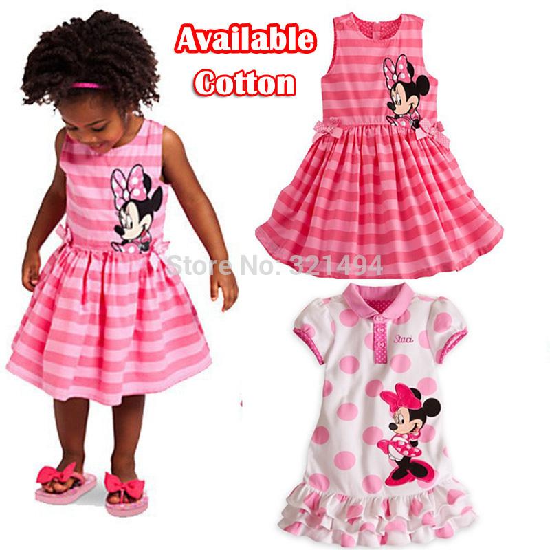 Retail,Fashion 2015 Girl dresses Minnie Mouse Kids Girls' Dresses Princess dresses Children's Wear SHT037(China (Mainland))
