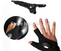 Free DHL 200pcs/Lot GloveLite LED Flashlight Glove Torch  PP BAG PACKING