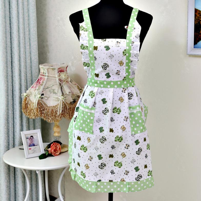Women Lady Restaurant Home Kitchen For Pocket Cooking Cotton Apron Bib Free shipping&Wholesale(China (Mainland))