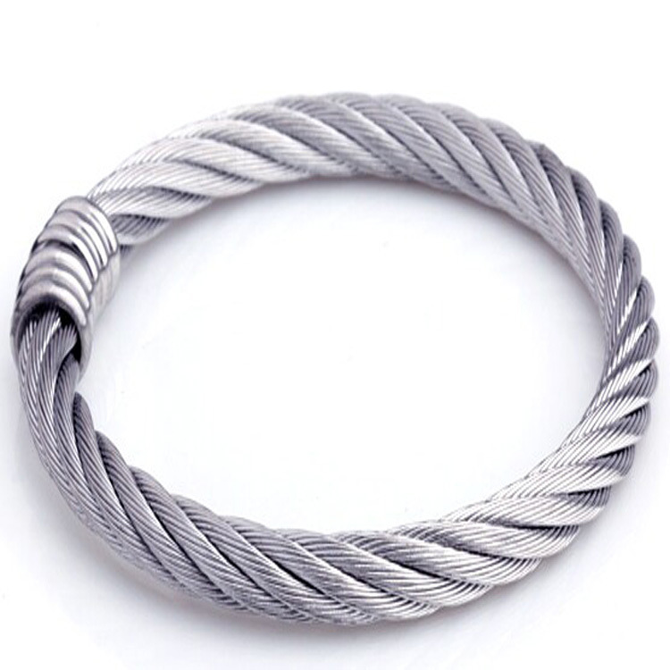 Hot style 316L steel bracelet punk retro rope nut Bangles silver Gothic jewelry gift&Sell well(China (Mainland))