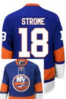 New York Islanders Ryan STROME #18 Home stitched Hockey Jersey