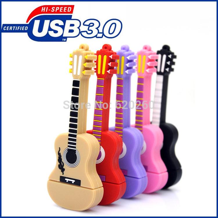 Hot sale pen drive 64GB, Musical Instrument Guitar Usb Flash Drive / Usb Memory Stick 8GB 16GB 32GB,usb Stick Pen Drive Disk(China (Mainland))