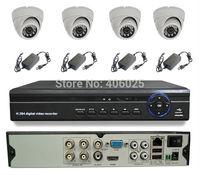 CWH-DW5104HD/4007MC security camera system 4CH 960H DVR with 4PCS indoor security camera with 4PCS Power adapter CCTV camera set
