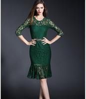 Hot spring 2015 latest ladies fashion leisure style mermaid bud silk dress sexy dress free shipping