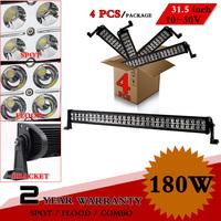"""4pcs 31.5"""" 180W LED Work Light Bar 12V 24V IP67 For Boat Truck Offroad ATV Fog Light Worklight Extermal Light Save on 240W 300W"""
