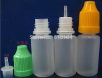 E-cigarette Wholesale 15ml 2500/lot clear PE bottle, plastic bottle, dropper bottle E-cigarette bottle