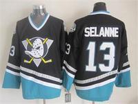 2015 New Anaheim Ducks Jerseys Ice Hockey Jersey Embroidery Logos Mix Orders #13 Teemu Selanne Black CCM Vintage jersey1462