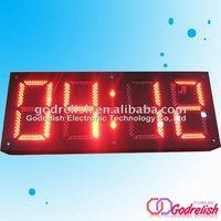 hot sell waterproof and super brightness Outdoor led temperature digital display clock