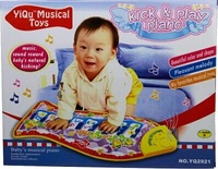 Fish music touch toy piano game blanket yakuchinone baby crawling pad music blanket toy 0-1 year old