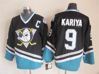 2015 New Anaheim Ducks Jerseys Ice Hockey Jersey Embroidery Logos Mix Orders #9 Paul Kariya Black CCM Vintage jersey1459